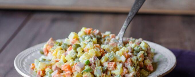 Классический рецепт овощного салата