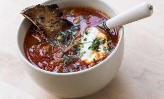 Суп с чоризо