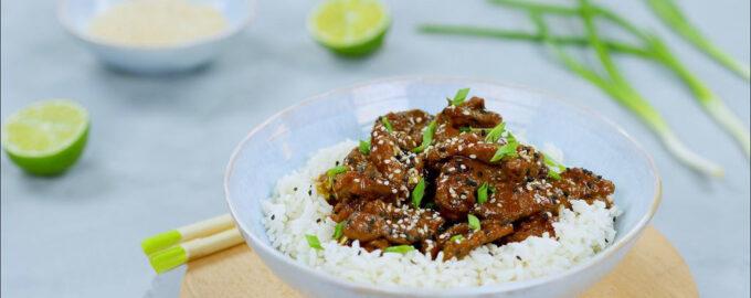 мясо по монгольски