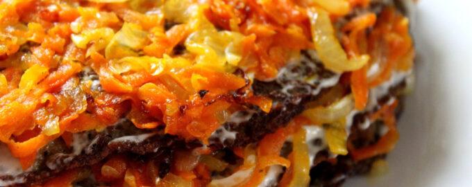 торт с морковью