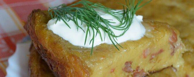 Бабка картофельная по белорусски