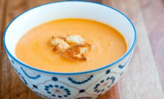 Крем суп из тыквы и картофеля