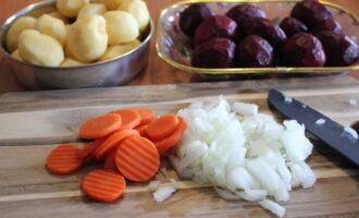 Овощи на борщ шаг 2