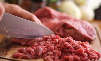 мясо мелко нарезанное
