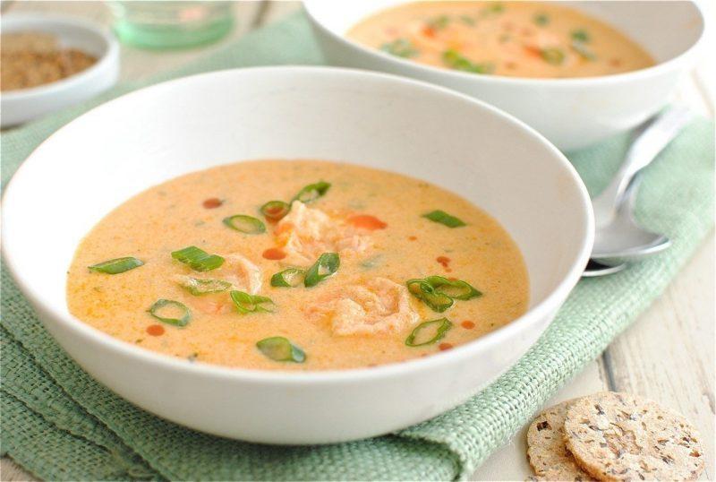 Суп с креветками и капустой